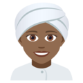 Woman Wearing Turban: Medium-Dark Skin Tone on JoyPixels 5.0
