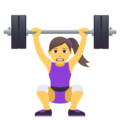 Woman Lifting Weights on JoyPixels 5.0