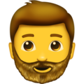 Man: Beard on Emojipedia 11.1