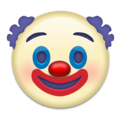Clown Face on Emojipedia 11.1