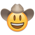 Cowboy Hat Face on Emojipedia 11.1