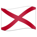 Flag for Alabama (US-AL) on Emojipedia 11.1