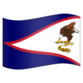 Flag for American Samoa (US-AS) on Emojipedia 11.1
