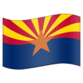Flag for Arizona (US-AZ) on Emojipedia 11.1