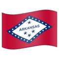 Flag for Arkansas (US-AR) on Emojipedia 11.1