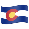Flag for Colorado (US-CO) on Emojipedia 11.1