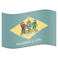 Flag for Delaware (US-DE) on Emojipedia 11.1
