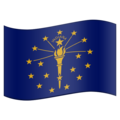 Flag for Indiana (US-IN) on Emojipedia 11.1