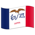 Flag for Iowa (US-IA) on Emojipedia 11.1