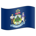 Flag for Maine (US-ME) on Emojipedia 11.1