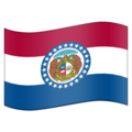 Flag for Missouri (US-MO) on Emojipedia 11.1