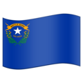 Flag for Nevada (US-NV) on Emojipedia 11.1