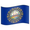 Flag for New Hampshire (US-NH) on Emojipedia 11.1