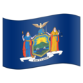 Flag for New York (US-NY) on Emojipedia 11.1