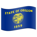 Flag for Oregon (US-OR) on Emojipedia 11.1