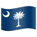Flag for South Carolina (US-SC) on Emojipedia 11.1