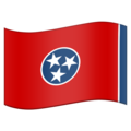 Flag for Tennessee (US-TN) on Emojipedia 11.1