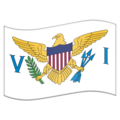 Flag for U.S. Virgin Islands (US-VI) on Emojipedia 11.1