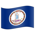 Flag for Virginia (US-VA) on Emojipedia 11.1