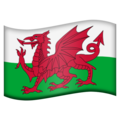 Flag: Wales on Emojipedia 11.1