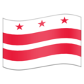 Flag for Washington DC (US-DC) on Emojipedia 11.1