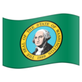 Flag for Washington (US-WA) on Emojipedia 11.1