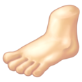 Foot: Light Skin Tone on Emojipedia 11.1