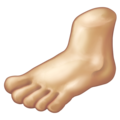 Foot: Medium-Light Skin Tone on Emojipedia 11.1
