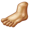 Foot: Medium Skin Tone on Emojipedia 11.1