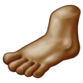 Foot: Medium-Dark Skin Tone on Emojipedia 11.1