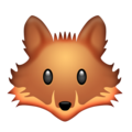 Fox Face on Emojipedia 11.1