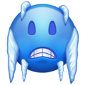Cold Face on Emojipedia 11.1
