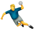 Person Playing Handball on Emojipedia 11.1