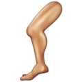 Leg: Medium Skin Tone on Emojipedia 11.1