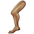 Leg: Medium-Dark Skin Tone on Emojipedia 11.1