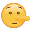 Lying Face on Emojipedia 11.1