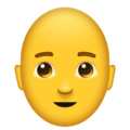 Man: Bald on Emojipedia 11.1