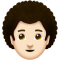 Man: Light Skin Tone, Curly Hair on Emojipedia 11.1