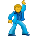 Man Dancing on Emojipedia 11.1