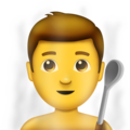 Man in Steamy Room on Emojipedia 11.1