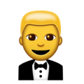 Man in Tuxedo on Emojipedia 11.1