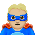 Man Superhero: Medium-Light Skin Tone on Emojipedia 11.1