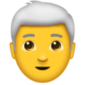 Man: White Hair on Emojipedia 11.1