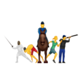 Modern Pentathlon on Emojipedia 11.1
