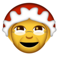 Mrs. Claus on Emojipedia 11.1