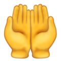 Palms Up Together on Emojipedia 11.1