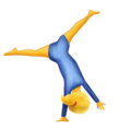 Person Cartwheeling on Emojipedia 11.1