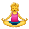 Person in Lotus Position on Emojipedia 11.1
