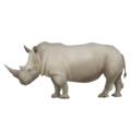Rhinoceros on Emojipedia 11.1