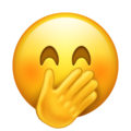 Face With Hand Over Mouth on Emojipedia 11.1